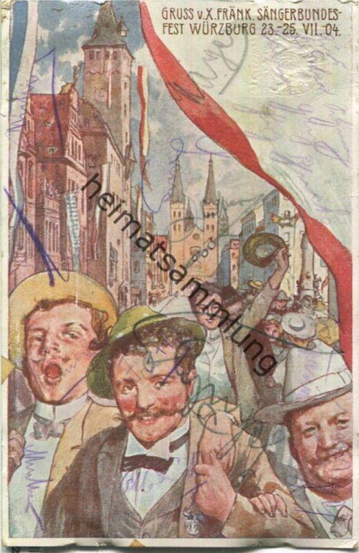 Würzburg - X. Fränkisches Sängerbundesfest 1904