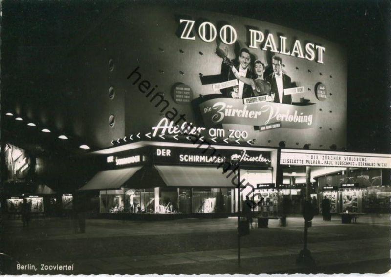 Berlin - Zoo Palast - Nacht - Foto-Ansichtskarte - Verlag Kunst und Bild Berlin