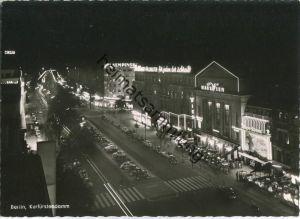 Berlin - Kurfürstendamm - Haus Wien bei Nacht - Foto-Ansichtskarte 50er Jahre - Verlag Kunst und Bild Berlin