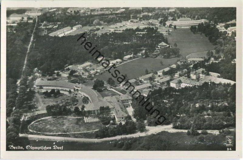 Berlin - Olympisches Dorf 1936 - Fliegeraufnahme 30er Jahre - Foto-Ansichtskarte - Verlag Klinke & Co. Berlin