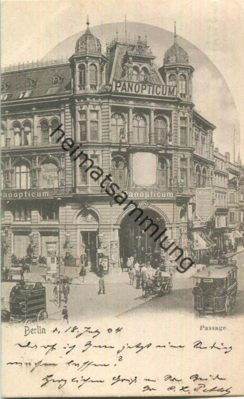 Berlin - Friedrichstrasse - Passage - Panopticum - Verlag Leuchtenberger & Stöckmann Berlin Friedrichstrasse 16