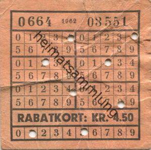 Dänemark - Kobenhavns Sporveje - Rabatkort KR. 4.50 - Fahrkarte