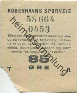 Dänemark - Kobenhavns Sporveje - Fahrschein 85 Öre