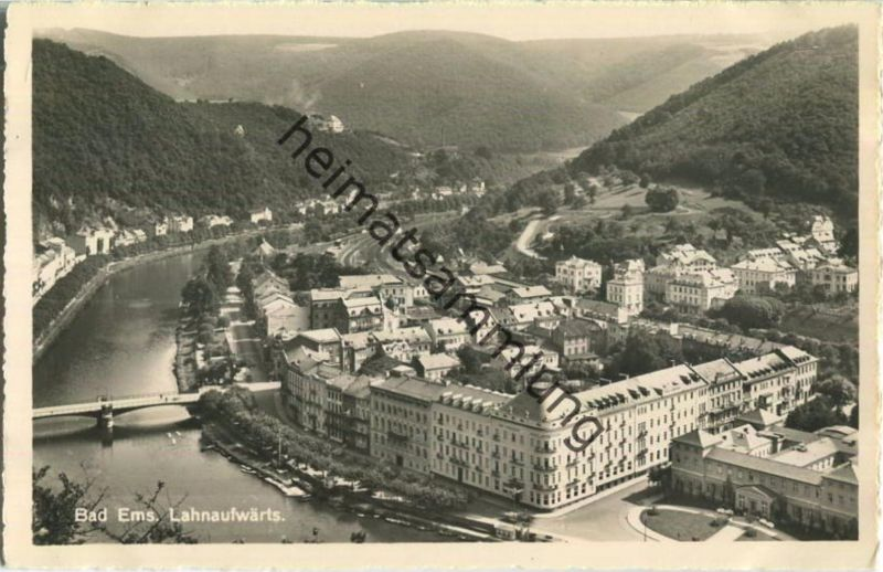 Bad Ems - Lahnaufwärts - Foto-Ansichtskarte - Verlag R. Kotalik Bad Ems