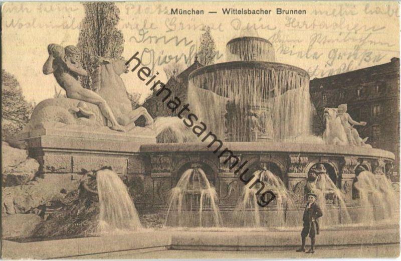 München - Wittelsbacher Brunnen - Verlag Ottmar Zieher München