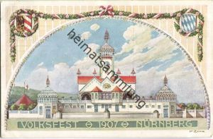 Nürnberg - Volksfest 1907 - H. Zinn - Ganzsache