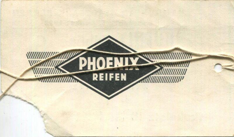 Deutschland - Hamburg - Hamburger Stadtpark-Rennen 1952 - Phoenix-Tribüne Ehrenkarte 1