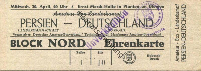 Deutschland - Hamburg Ernst-Merck-Halle Amateur-Box-Länderkampf Persien Deutschland - Veranstalter DABV Technische Leitu 0