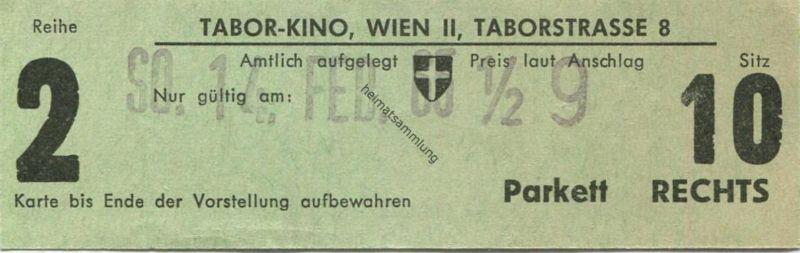 Österreich - Wien - Tabor Kino Wien II Taborstrasse 8 - Kinokarte 1965