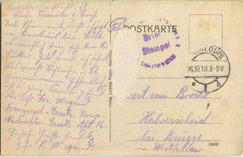 Saarlouis - Garnisionslazarett - Saar - Feldpost 1