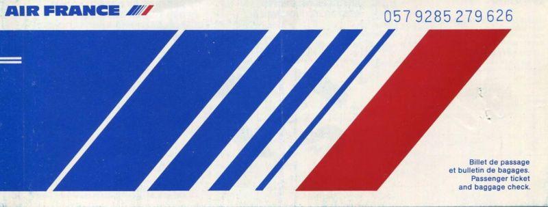 Air France 1982 - Paris Los Angeles Paris