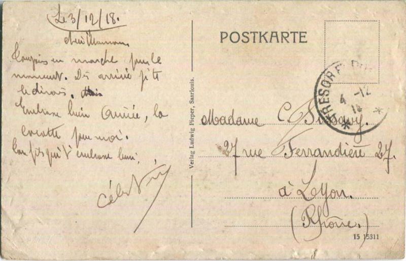 Saarlouis - Franziskanerinnen-Kloster - Feldpost 1