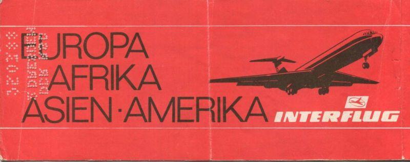 Interflug 1989 - Berlin Sofia Berlin 1