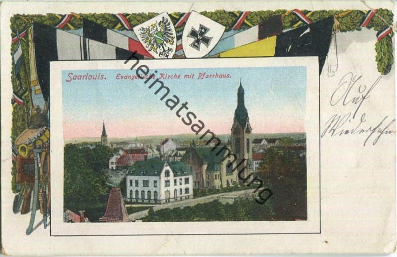 Saarlouis - Evangelische Kirche - Pfarrhaus - Feldpost 0