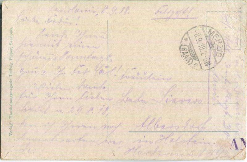 Saarlouis - Kreis-Sparkasse - Landratsamt - Feldpost 1