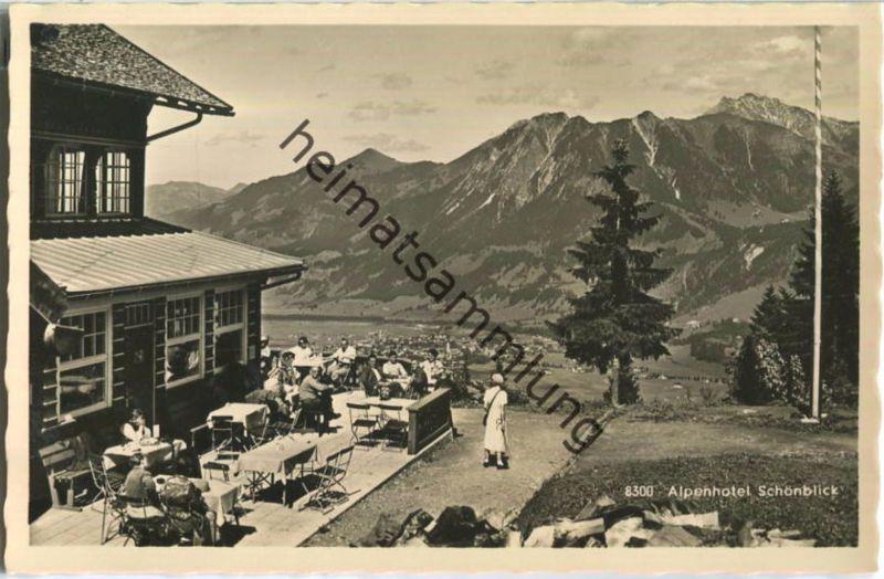 Ak oberstdorf allg u alpenhotel sch nblick nr 8306969 for Hotel in sonthofen und umgebung