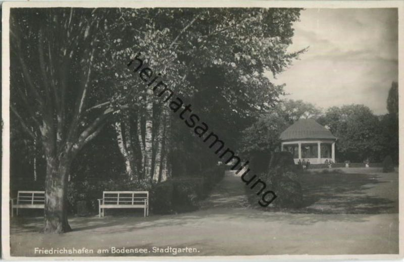 Friedrichshafen - Stadtgarten - Foto-Ansichtskarte - Verlag Albert Ulrich Ravensburg