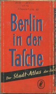 Deutschland - Berlin in der Tasche 50er Jahre - Der Stadtatlas der Berliner Morgenpost mit Straßen- und Adressenverzeich