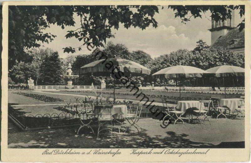 Bad Dürkheim - Kurpark mit Ostertagdenkmal - Verlag Baumann & Sohn Bad Dürkheim