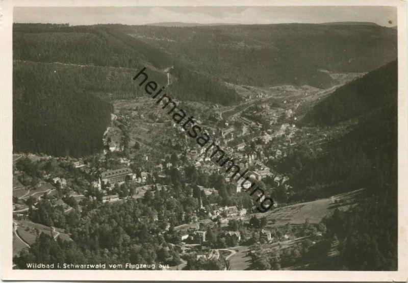 Wildbad - Fliegeraufnahme Strähle - Foto-AK Grossformat - Verlag A. Weber & Co. Stuttgart