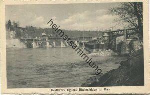 Glattfelden - Kraftwerk Eglisau-Rheinsfelden im Bau - Verlag J. Buchmann & Cie. Olten