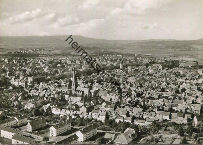Eschwege - Luftaufnahme - Foto-AK Grossformat 60er Jahre - Verlag Schöning & Co Lübeck - 60er Jahre