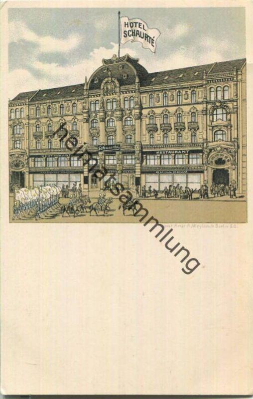 Berlin - Hotel Schaurté - Künstler-Ansichtskarte
