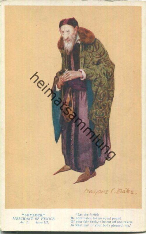 Shylock - Merchant of Venice - Judaika - Künstler-Ansichtskarte