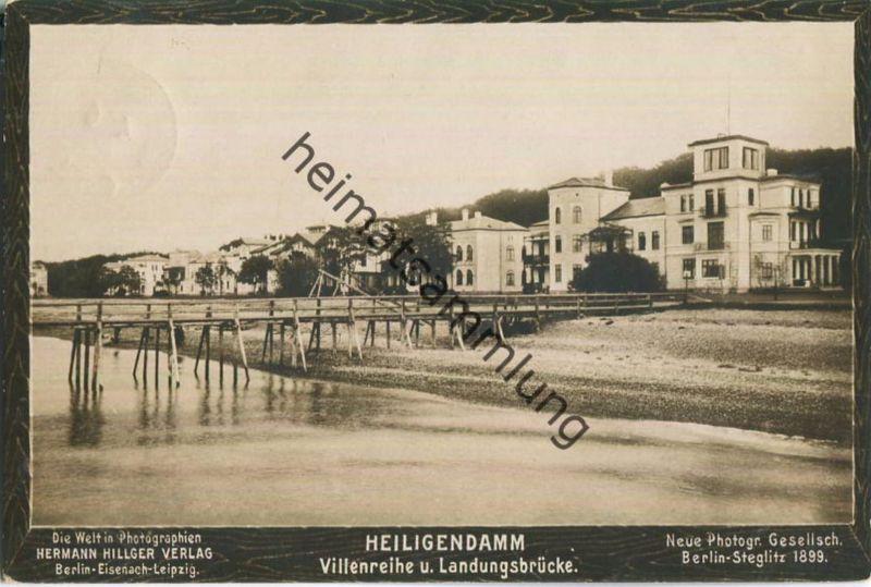 Heiligendamm - Villenreihe und Landungsbrücke - Verlag Neue Photogr. Gesellsch. Berlin-Steglitz 1899