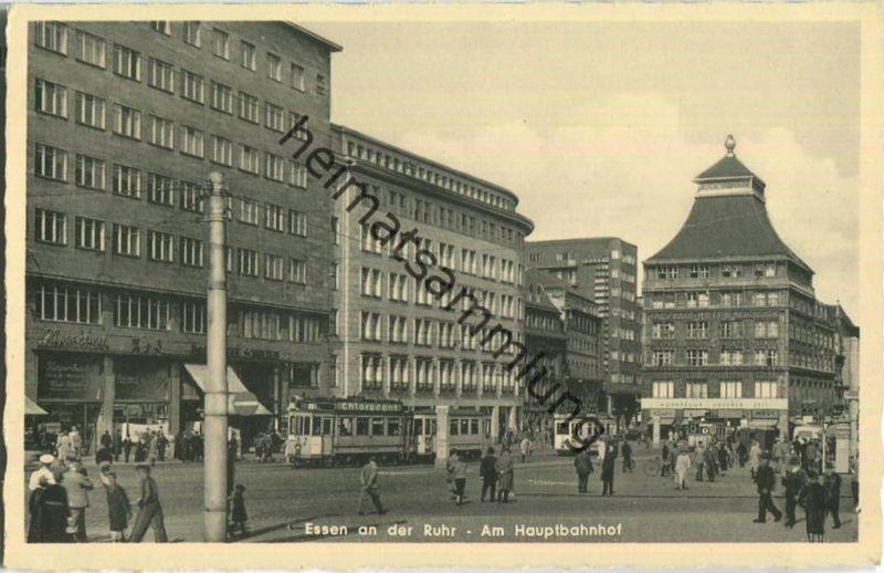 Essen - Am Hauptbahnhof - Strassenbahn - Verlag Schöning & Co Lübeck