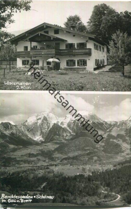 Berchtesgaden-Schönau - Löslerlehen J. Hölzl - Foto-Ansichtskarte - Verlag Foto Karsten München 0