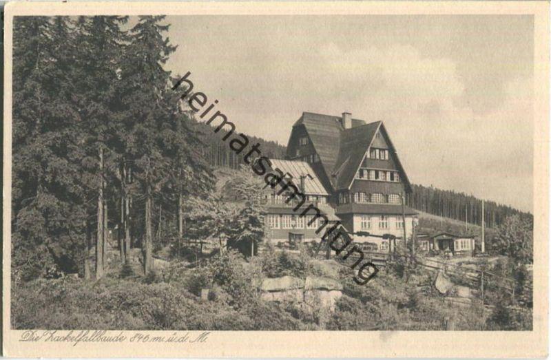 Zackelfallbaude - Ansichtskarte 30er Jahre - Verlag E. Wagner Söhne Zittau