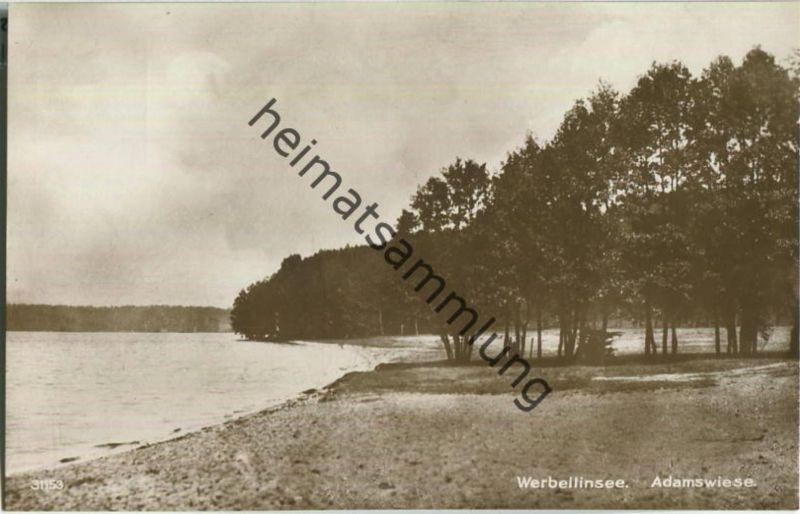 Werbellinsee - Adamswiese - Foto-Ansichtskarte - Verlag Max Krusche Heegermühle