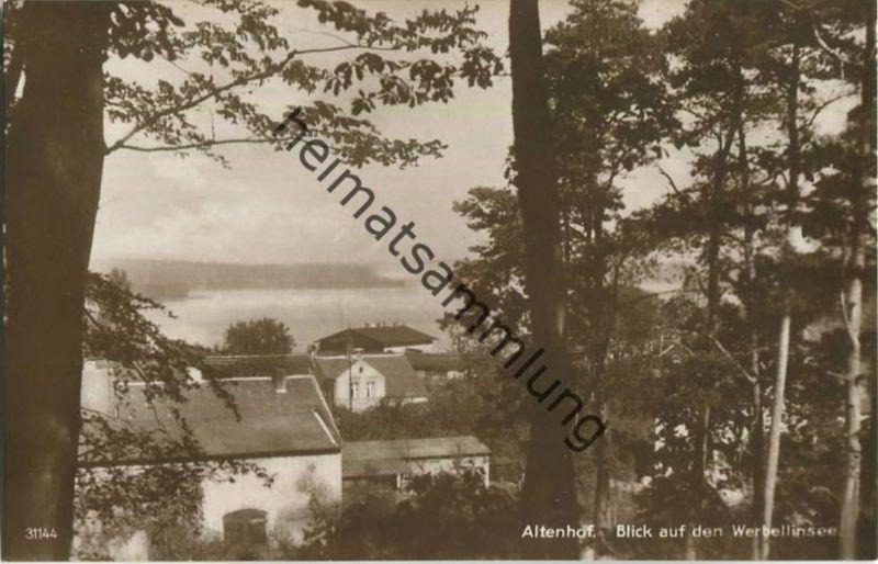 Altenhof am Werbellinsee - Foto-Ansichtskarte - Verlag Max Krusche Heegermühle