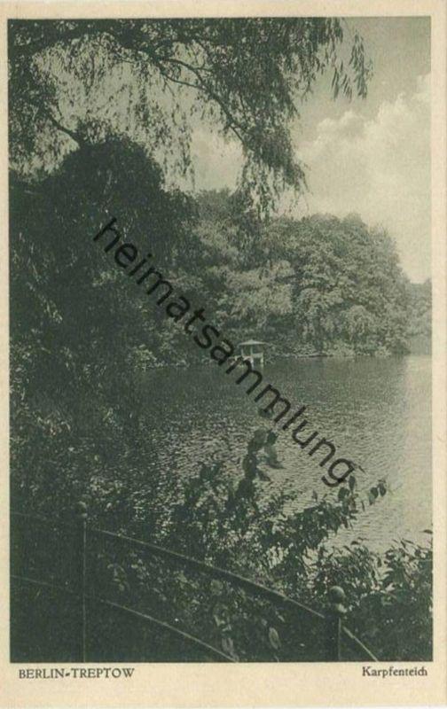 Berlin - Treptow - Karpfenteich 30er Jahre - Verlag J. Goldiner Berlin