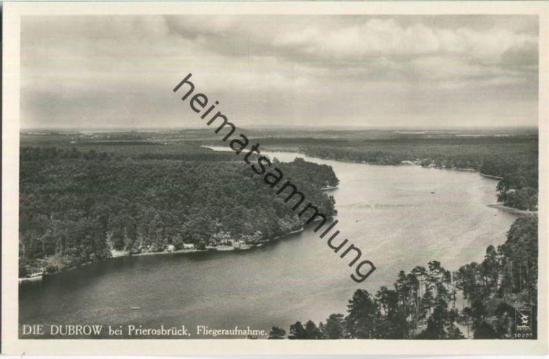Prieros - Dubrow bei Prierosbrück - Foto-Ansichtskarte - Luftaufnahme - Verlag Klinke & Co. Berlin