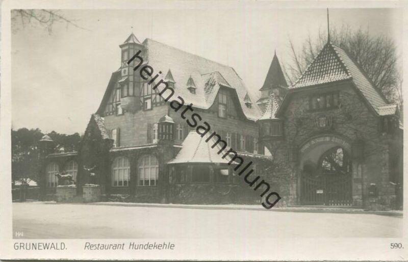 Berlin - Grunewald - Restaurant Hundekehle - Foto-AK 30er Jahre - Verlag Ludwig Walter Berlin