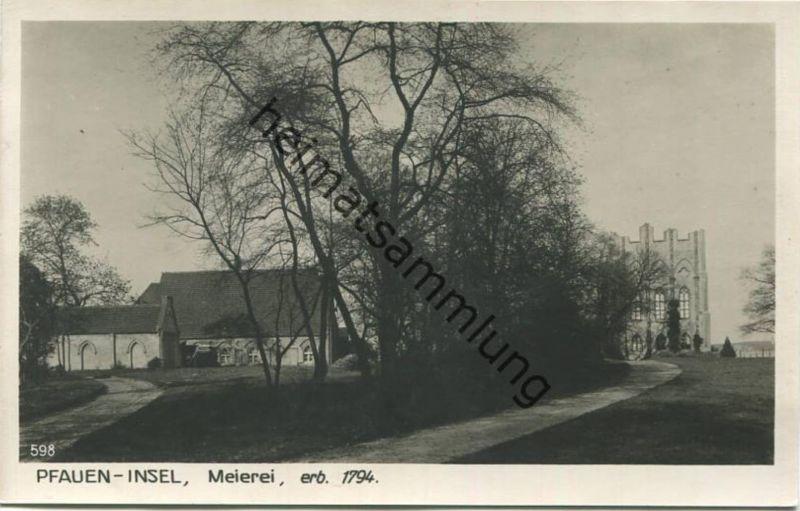 Berlin - Grunewald - Pfauen Insel - Meierei - Foto-AK 30er Jahre - Verlag Ludwig Walter Berlin