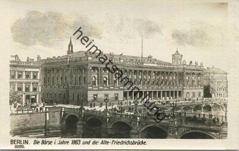 Alt Berlin Borse Und Alte Friedrichsbrucke I J 1883 Verlag