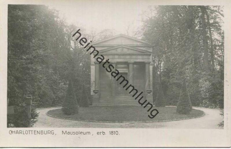 Schloss Charlottenburg - Mausoleum - Foto-AK 20er Jahre - Verlag Ludwig Walter Berlin