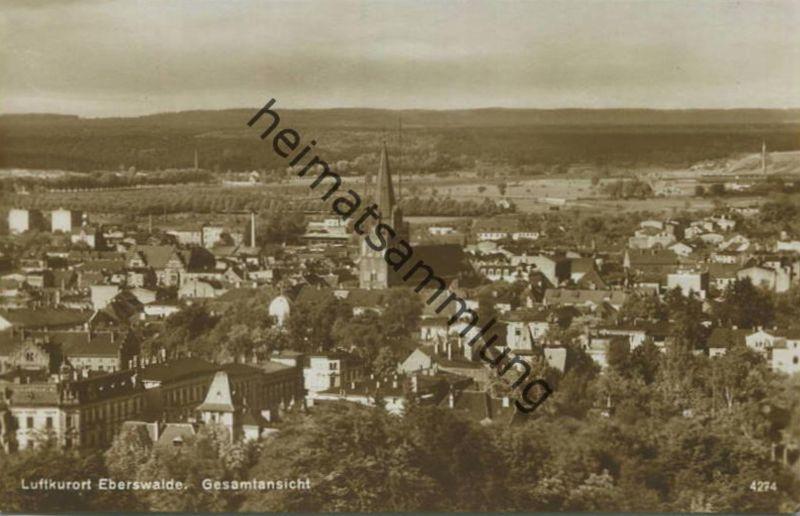 Eberswalde - Gesamtansicht - Foto-AK 20er Jahre - Verlag H. Rubin & Co. Dresden
