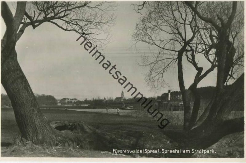 Fürstenwalde - Spreetal am Stadtpark - Foto-AK 30er Jahre - Verlag Herm. Marre Berlin