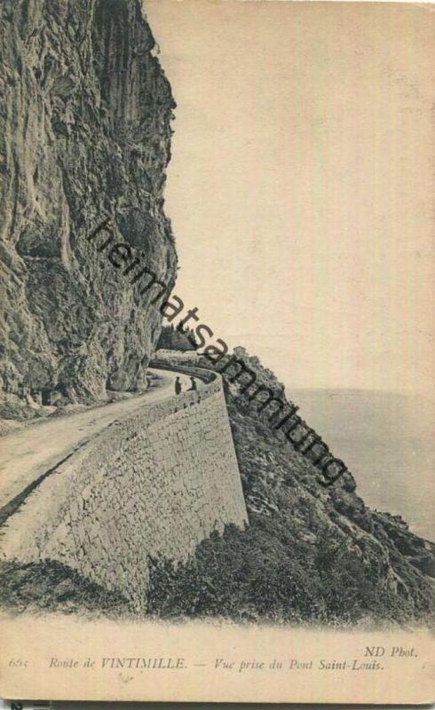 Route de Vintimille - Vue prise du Pont Saint-Louis