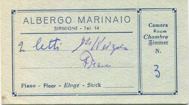 Italien - Sirmione - Albergo Marinaio - Visitenkarte