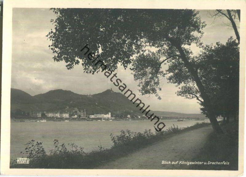 Königswinter - Drachenfels - Foto-Ansichtskarte Grossformat - Verlag Jos. Kessel Köln-Mülheim