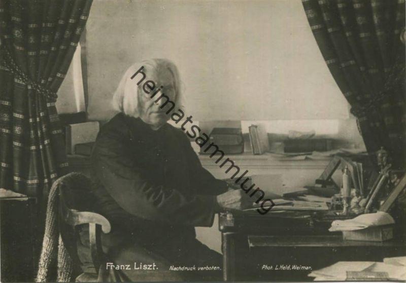 Franz Liszt - AK Grossformat - Verlag L. Held Weimar