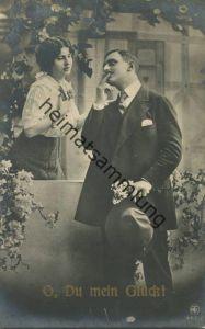 Liebespaar - O Du mein Glück! - Foto-AK gel. 1916