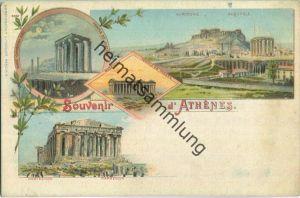 Athenes - Künstler-Ansichtskarte - Verlag J. Miesler Berlin