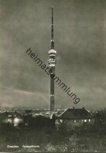 Dresden - Fernsehturm - Foto-AK Großformat - Verlag Köhler & Büßer Karl-Marx-Stadt