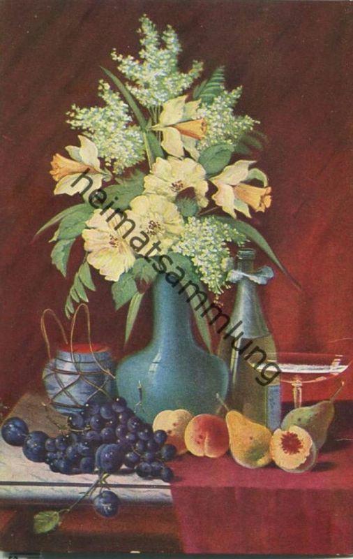 Blumenvase - Künstler-Ansichtskarte